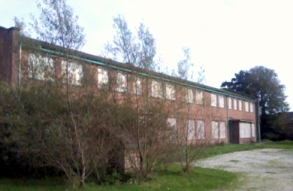 One of the buildings, currently in disuse